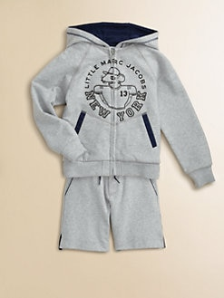 Little Marc Jacobs - Toddler's & Little Boy's Zip-Front Fleece Hoodie