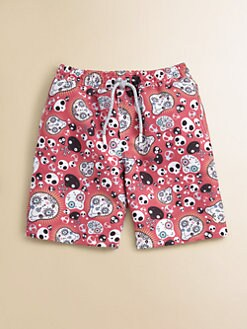 Retromarine - Toddler's & Little Boy's Skull Swim Trunks