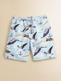 Retromarine - Toddler's & Little Boy's Seagull Swim Trunks