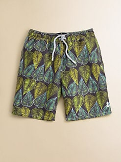 Retromarine - Toddler's & Little Boy's Leaf Swim Trunks