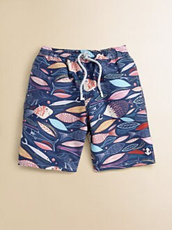 Retromarine - Toddler's & Little Boy's Fish Swim Trunks