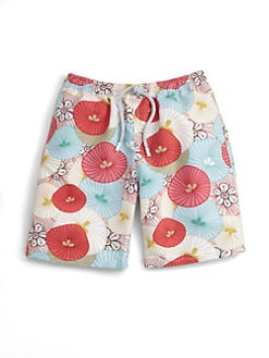 Retromarine - Toddler's & Little Boy's Tropical Swim Trunks
