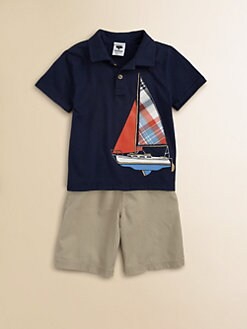 Mulberribush - Toddler's & Little Boy's Sailboat Polo and Shorts Set