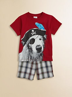 Mulberribush - Toddler's & Little Boy's Dog Tee and Shorts Set