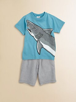 Mulberribush - Toddler's & Little Boy's Shark Tee & Shorts Set