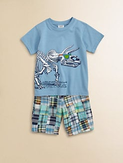 Mulberribush - Toddler's & Little Boy's Dino Tee and Shorts Set