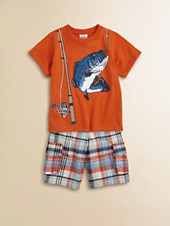 Mulberribush - Toddler's & Little Boy's Gone Fishing Tee and Shorts Set