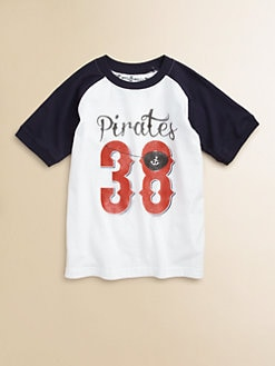 Wes & Willy - Toddler's & Little Boy's Pirate Raglan Tee Shirt