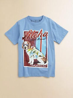 Wes & Willy - Toddler's & Little Boy's Aloha Dog Tee Shirt