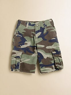 Wes & Willy - Toddler's & Little Boy's Camo Cargo Shorts