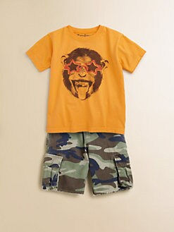 Wes & Willy - Toddler's & Little Boy's Monkey Sunglasses Tee Shirt
