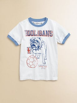 Wes & Willy - Toddler's & Little Boy's Hooligan Ringer Tee Shirt