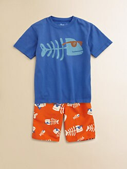 Wes & Willy - Toddler's & Little Boy's Fishbone Sunglasses Tee