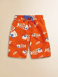 Wes & Willy - Toddler's & Little Boy's Fishbone Sunglasses Swim Trunks