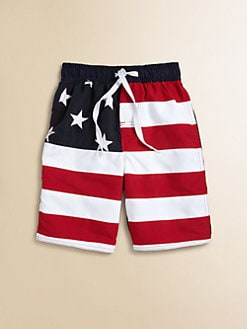Wes & Willy - Toddler's & Little Boy's Stars & Stripes Swim Trunks