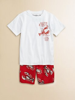 Wes & Willy - Toddler's & Little Boy's Lobster Tee