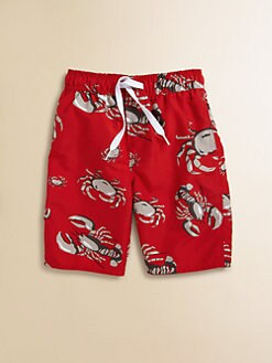 Wes & Willy - Toddler's & Little Boy's Lobster Swim Trunks