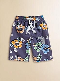 Wes & Willy - Toddler's & Little Boy's Rhino Hibiscus Trunk