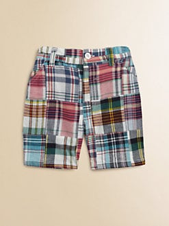 Egg Baby - Toddler's & Little Boy's Madras Patchwork Shorts