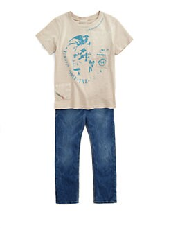 Diesel - Little Boy's Mohican Logo Tee