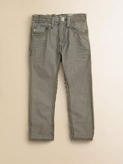 Diesel - Little Boy's Railroad Striped Straight-Leg Jeans