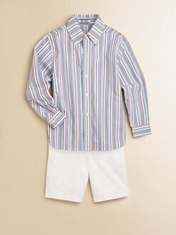 Hartstrings - Toddler's & Little Boy's Striped Shirt