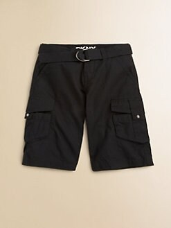 DKNY - Toddler's & Little Boy's Ripstop Cargo Shorts/Black