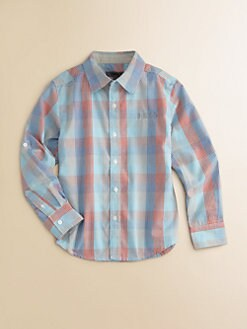 DKNY - Toddler's & Little Boy's Gingham Plaid Woven Shirt