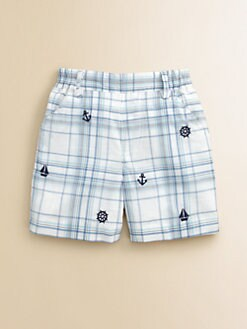 Florence Eiseman - Toddler's & Little Boy's Embroidered Plaid Shorts