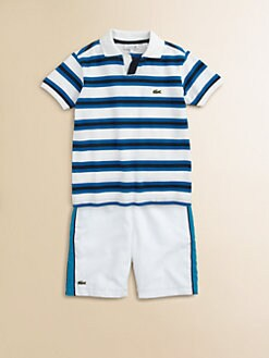 Lacoste - Toddler's & Little Boy's Johnny Striped Pique Polo Shirt