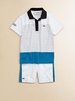 Lacoste - Toddler's & Little Boy's Andy Super Dry Striped Polo Shirt