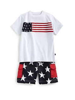 Hartstrings - Toddler's & Little Boy's Cotton Flag Tee