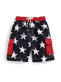 Hartstrings - Toddler's & Little Boy's Stars Swim Trunks