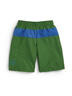 Lacoste - Little Boy's Colorblock Swim Trunks