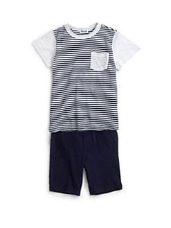 Splendid - Toddler's & Little Boy's Two-Piece Striped Tee & Shorts Set