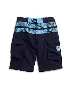Diesel - Little Boy's Morico Floral Swim Trunks