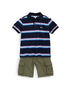 Lacoste - Toddler's & Little Boy's Striped Piqué Polo Shirt