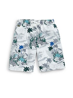 Lacoste - Toddler's & Little Boy's Palm Tree Swim Trunks