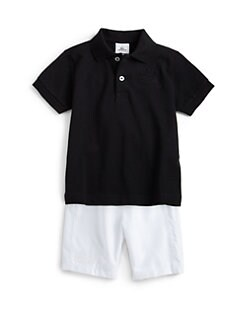 Lacoste - Little Boy's Super Light Embroidered Croc Polo Shirt