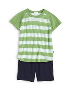 Splendid - Toddler's & Little Boy's Two-Piece Striped Raglan Tee & Shorts Set