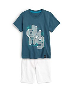 DKNY - Toddler's & Little Boy's Pipes Tee