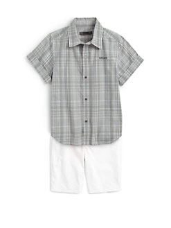 DKNY - Toddler's & Little Boy's Seashore Plaid Shirt