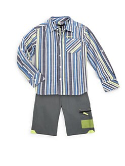 DKNY - Toddler's & Little Boy's Striped Cosmic Shirt