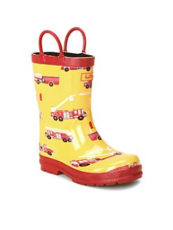 Hatley - Toddler's & Little Boy's Fire Truck Rain Boots