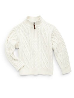 Hartstrings - Toddler's & Little Boy's Cable-Knit Zip Sweater