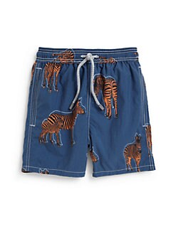 Vilebrequin - Little Boy's Zebra Print Swim Trunks