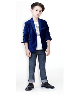 Little Marc Jacobs - Toddler's & Little Boy's Velvet Blazer