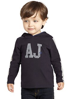 Armani Junior - Toddler's & Little Boy's AJ Logo Hoodie