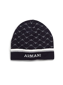 Armani Junior - Toddler's & Little Boy's Knit Logo Hat