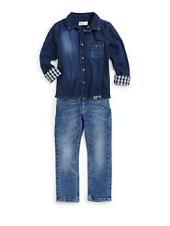 Diesel - Toddler's & Little Boy's Calety Denim Shirt